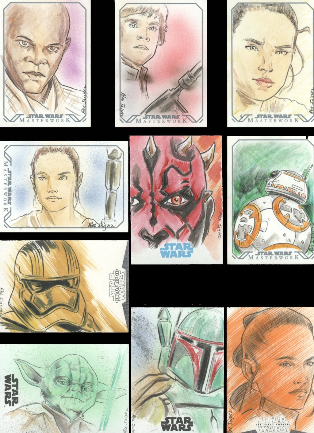 Star Wars Topps Collectible Cards